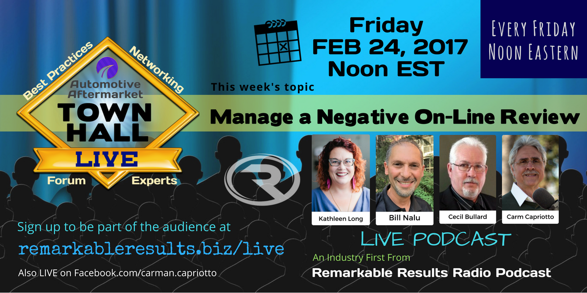 AD Town Hall Manage Negative Review Feb 24, 2017