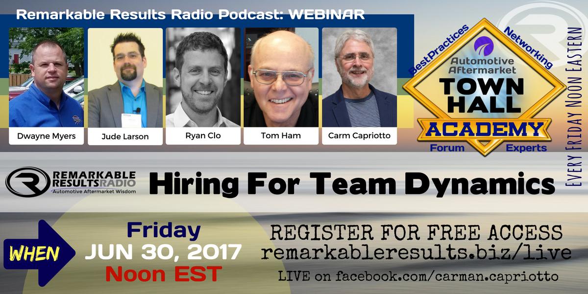 Ad Town Hal- Hiring For Team Dynamics