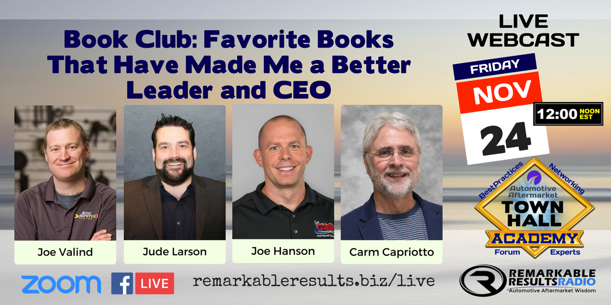 Town Hall Academy 043- Book Club_ Your Favorite Books that have made you a better leader and CEO