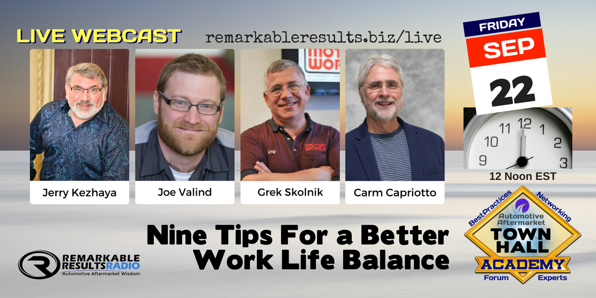 Town Hall Academy- Nine Tips for Better Work Life Balance