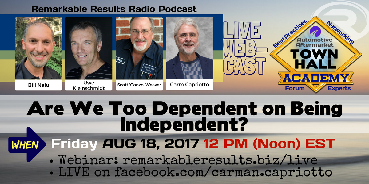 Town Hall- Are We Too Dependent on Being Independent