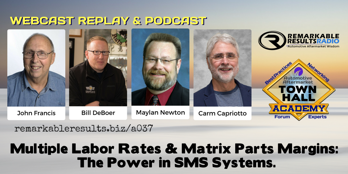 THA 037: Multiple Labor Rates & Matrix Parts Margins in your SMS