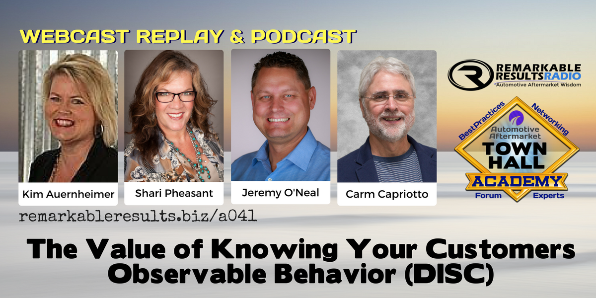 THA 41 Value of Knowing Your Customers Observable Behavior (DISC) SOCIAL
