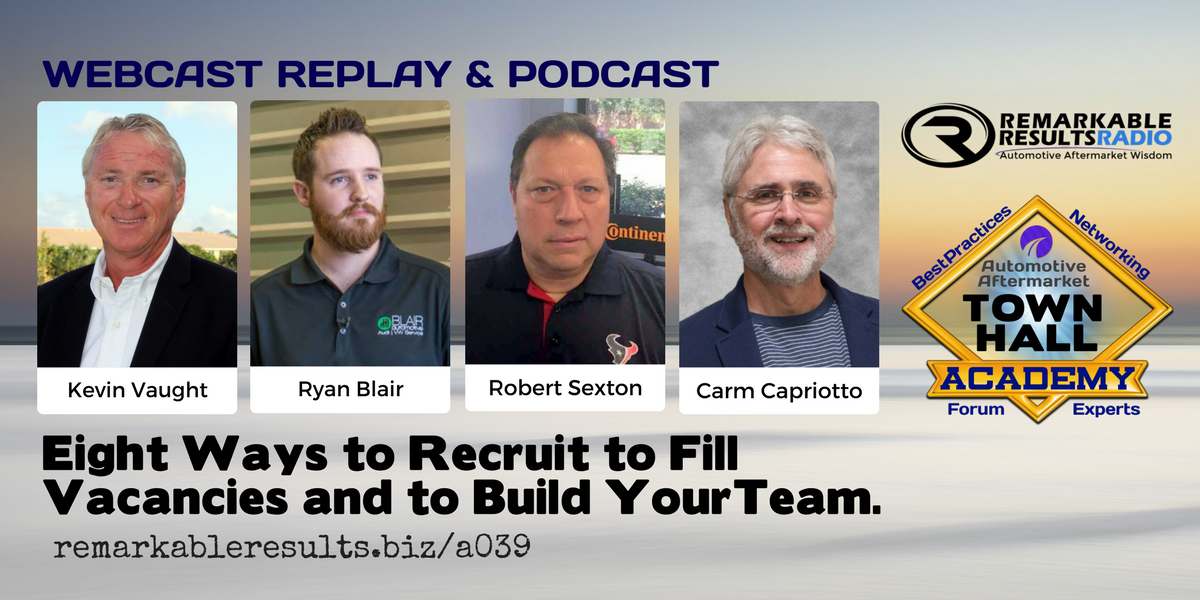 Town Hall Academy- 8 Ways to Recruit to Fill Vacancies and to Build Your Team - Social
