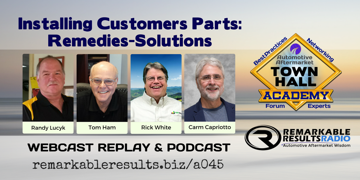 THA 045: Installing Customers Parts - A Discussion | AMi Credit