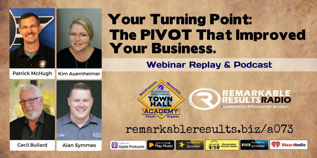 PIVOT(s) That Improved Your Business