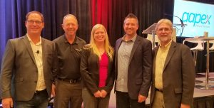AAPEX EDU 2018, Donny Seyfer, Chris Chesney, Jill Saunders, Kyle Holt and Carm