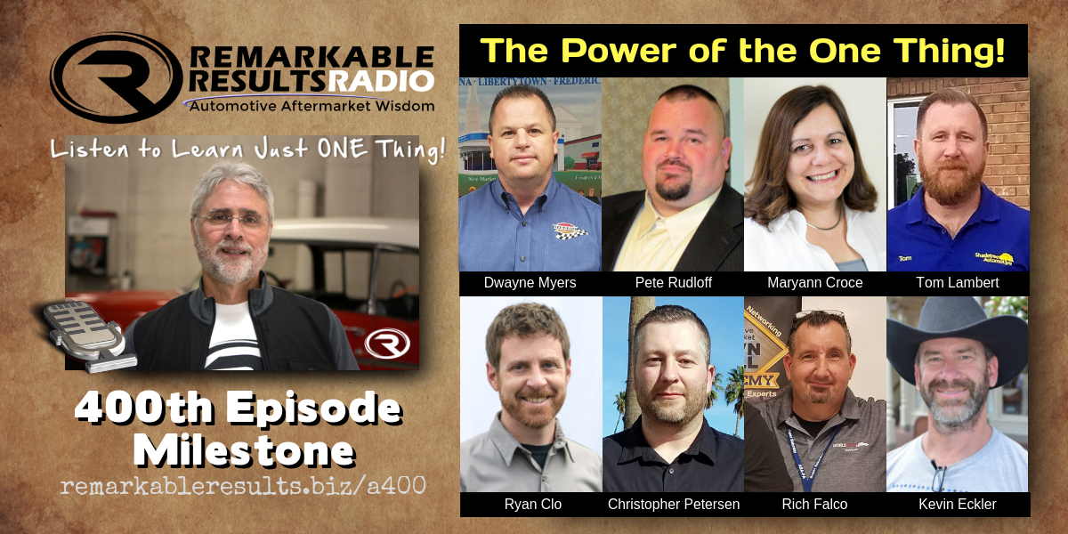 400th Episode of the Remarkable Results Radio Podcast