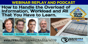 THA 109 How to Handle the Overload of Information, Workload and All That You Have to Learn
