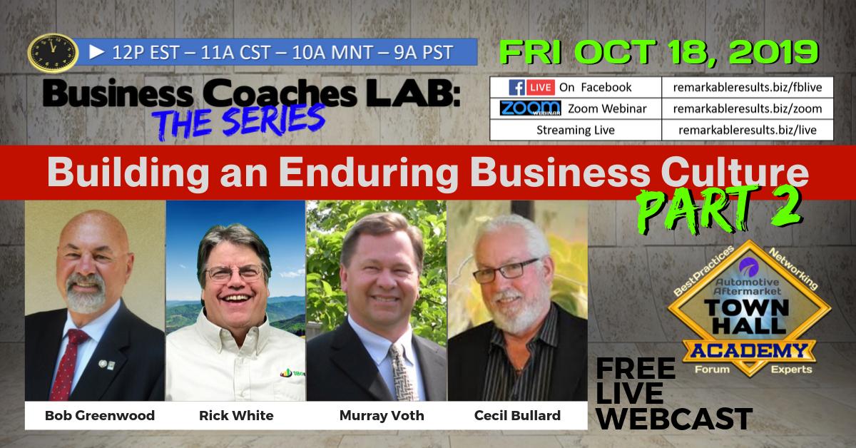 THA 142 Business Coaches LAB Culture Part 2