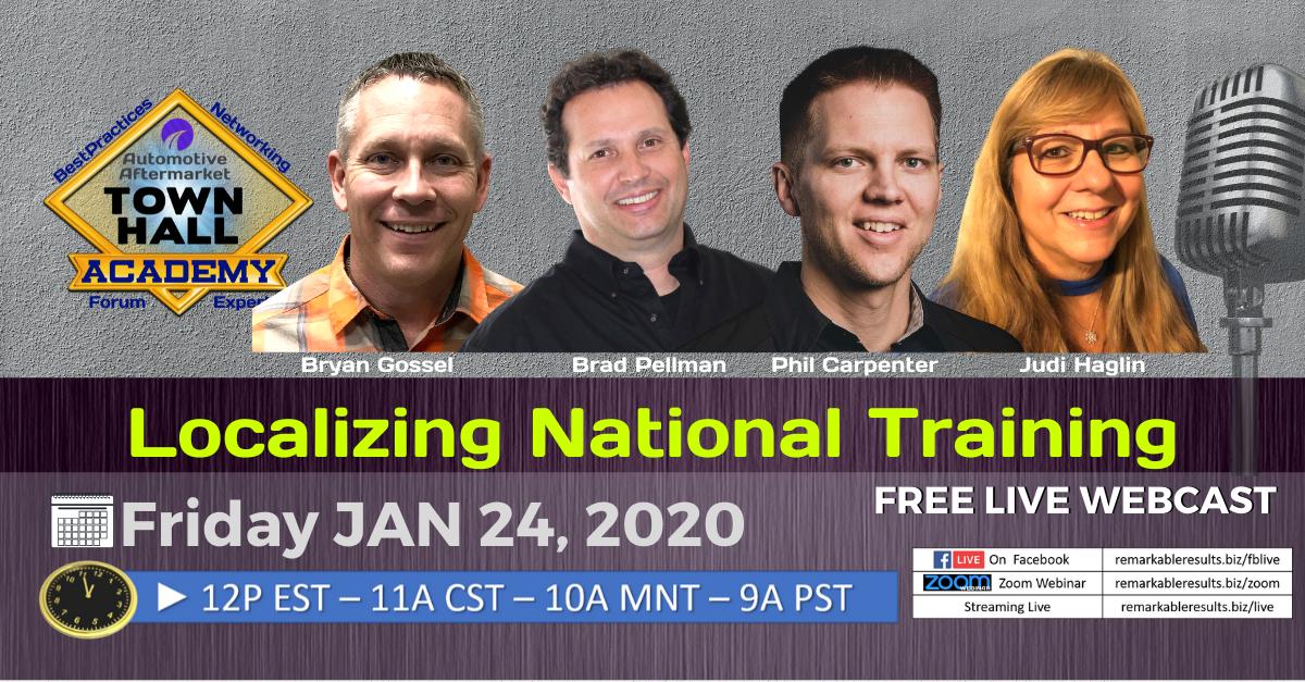 THA 156 Localizing National Training