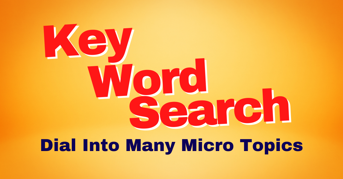 Key Word Search Tag Cloud 1