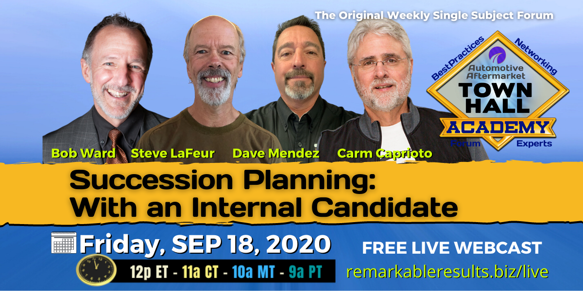 THA 190 Succession Planning with an Internal Canidate 1