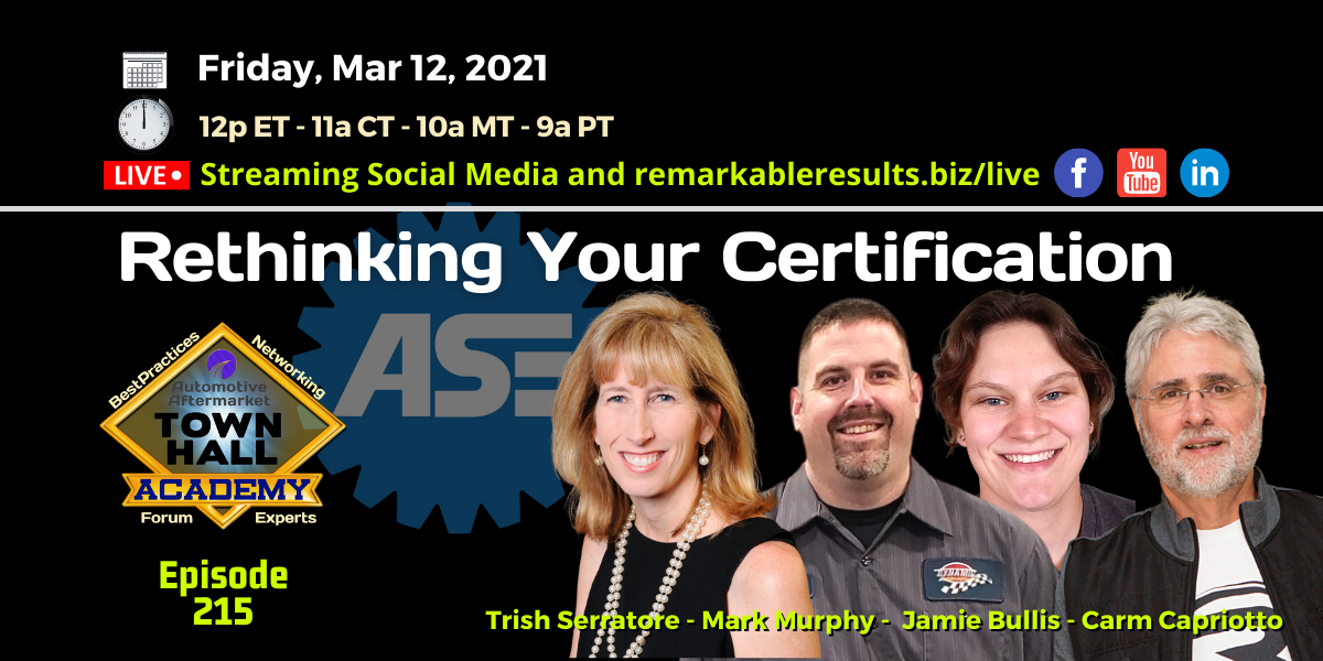 THA 215 ASE - Rethinking Your Certification
