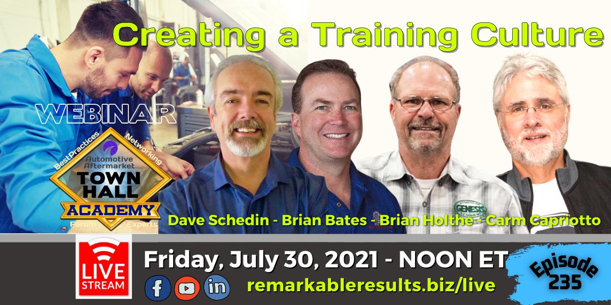THA 235 Creating a Training Culture