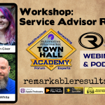 THA 069 Workshop - Service Advisor Role Play Post