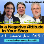 THA 202 Why FIx a Negative Attitude in Your Shop